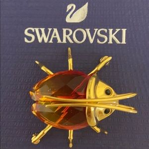 VINTAGE Swarovski crystal and gold critter